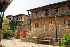 Greece - Balkan architecture. Typical Balkan style of building houses in North Greece Stock Image