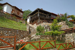 Greece - Balkan architecture. Typical Balkan style of building houses in North Greece Stock Images