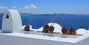 greece balkonowy santorini Fotografia Stock