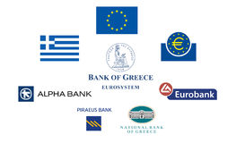 Greece banks Royalty Free Stock Photography