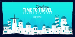 Greece banner. Time to Travel. Journey, trip and vacation. Vector flat illustration. Greece banner. Time to Travel. Journey, trip and vacation. Vector flat Royalty Free Stock Images