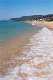 Greece Beach. Coastline beach scene on eastern coast of Greece Stock Photography