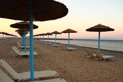 Greece beach in the hot summer Stock Images
