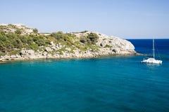 Greece beach in rodos. In greece Stock Image