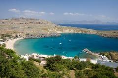 Greece beach in rodos. In greece Royalty Free Stock Photos