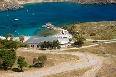 Greece beach in rodos. In greece Royalty Free Stock Photo