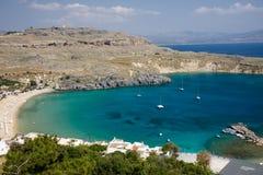 Greece beach in rodos. In greece Stock Photo