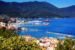 Greece. A beautiful summer picture  in town Thassos, Greece Royalty Free Stock Photography