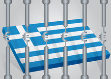 Greece behind the strictness. Greece in the Euro behind the strictness Stock Photography
