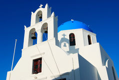 Greece Blue Church Stock Photo