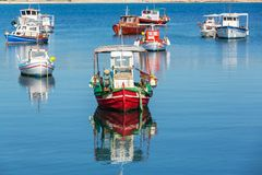 Greece boat Royalty Free Stock Images