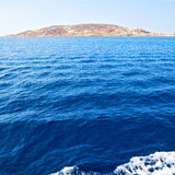 Greece from the boat  islan ds in mediterranean sea and sky Royalty Free Stock Photo