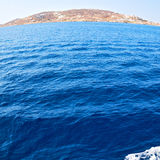 Greece from the boat  islands in mediterranean sea and sky Royalty Free Stock Photography