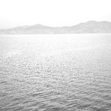 Greece from the boat  islands in mediterranean sea and sky Stock Images