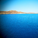 Greece from the boat   in mediterranean sea and sky Stock Image