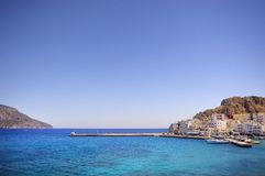 Greece bonito, ilha maravilhosa e mar Fotos de Stock