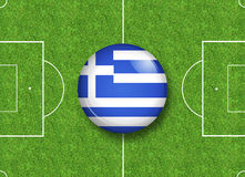Greece button Stock Image
