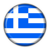 Greece button flag round shape Royalty Free Stock Photos