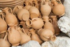 Greece ceramic pots Stock Photo
