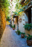 Greece, Chania, Crete.Traditional street Royalty Free Stock Image