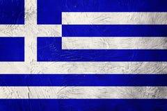 greece chorągwiany grunge Grecja flaga z grunge teksturą Fotografia Royalty Free