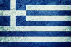 greece chorągwiany grunge Grecja flaga z grunge teksturą Obrazy Stock