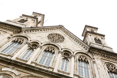Greece church. Beautiful old ornaments Royalty Free Stock Photography