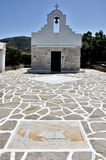 Greece church font view and mosaic Royalty Free Stock Photography