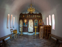 Greece church Interior Royalty Free Stock Photography