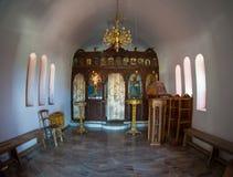 Greece church Interior Royalty Free Stock Photography