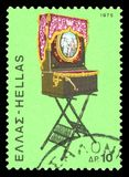 Postage stamp - Greece stock photography