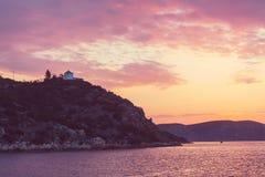 Greece coast Stock Photos