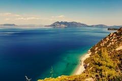 Greece coast Royalty Free Stock Photo