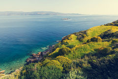 Greece coast Royalty Free Stock Images