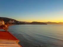 Greece Coast Sunset royalty free stock image