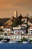 Greece, console de Poros Imagem de Stock Royalty Free