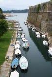 Greece. Corfu-cidade. Fortaleza fotos de stock royalty free