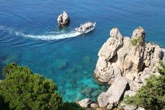 Greece. Corfu. Coast of Paleokastrica Royalty Free Stock Photos