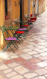 Greece. Corfu island. Corfu town. An open-air cafe Royalty Free Stock Photography
