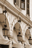 Greece. Corfu (Kerkyra) Island. Corfu Town. Street Lamp. In Sepi Royalty Free Stock Photo