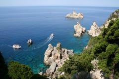 Greece. Corfu, Paleokastrica coast Royalty Free Stock Photo