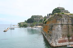 Greece. Corfu-town. Fortress stock image