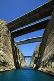 Greece, Corinth Canal Royalty Free Stock Photo