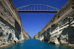 Greece, Corinth Canal Royalty Free Stock Image