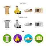 Greece, country, tradition, landmark .Greece set collection icons in cartoon,flat,monochrome style vector symbol stock. Illustration Stock Images
