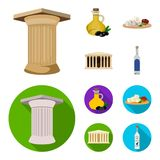 Greece, country, tradition, landmark .Greece set collection icons in cartoon,flat style vector symbol stock illustration.  Royalty Free Stock Photography