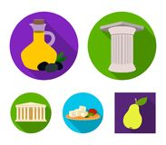 Greece, country, tradition, landmark .Greece set collection icons in flat style vector symbol stock illustration web. Greece, country, tradition, landmark Royalty Free Stock Image