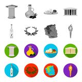 Greece, country, tradition, landmark .Greece set collection icons in monochrome,flat style vector symbol stock. Illustration Royalty Free Stock Photography