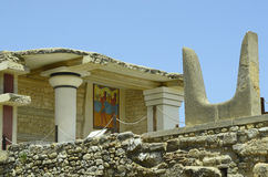 Greece, Crete. Ancient Minoan palace in Knossos Stock Photos