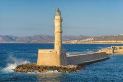 Greece, Crete - Chania old harbor lighthouse Royalty Free Stock Photos